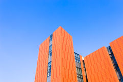 Orange  building  wall Royalty Free Stock Image