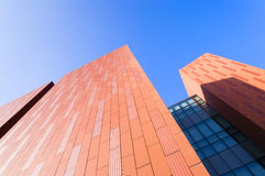 Orange  building  wall Royalty Free Stock Photography