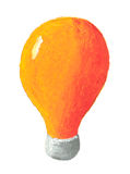 Orange bulb Royalty Free Stock Photos
