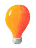 Orange bulb. Acrylic illustration of orange bulb Royalty Free Stock Photos
