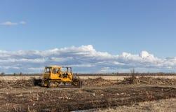 Orange bulldozer Royaltyfria Foton