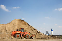 Orange bulldozer Royalty Free Stock Photos