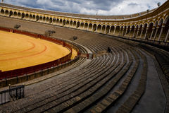 Orange bullring Plaza de Toros in Sevilla Stock Photography
