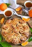 Orange bun cake Royalty Free Stock Photo