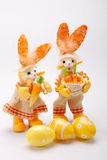 Orange bunnies couple Stock Photography