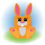 Orange bunny.Papakovka for gifts. Royalty Free Stock Photography
