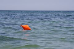Orange buoy Stock Images