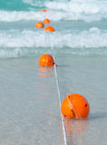 Orange buoy Stock Photos