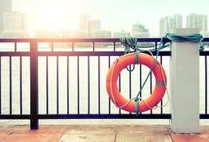 Orange buoy Stock Photo