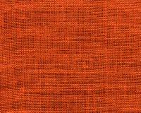 Orange burlap sample. Image of burlap textile sample Royalty Free Stock Images