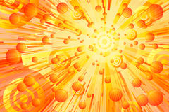 Orange Burst Royalty Free Stock Photography