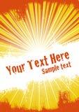 Orange Burst Background Royalty Free Stock Image