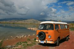 Orange Bus Stockbilder