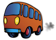 Orange bus illustration Royalty Free Stock Image
