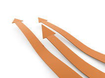 Orange business arrows Stock Photography