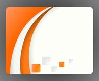 Orange business card Stock Photography