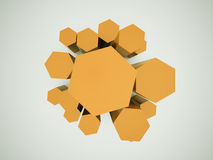 Orange business hexagonal Royalty Free Stock Photo