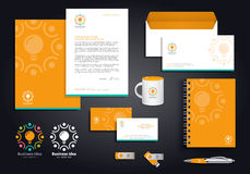 Orange Business Idea Corporate Identity Royalty Free Stock Image