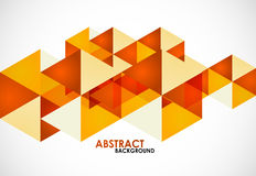 Orange business triangles Royalty Free Stock Images