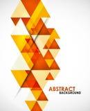 Orange business triangles Stock Photos