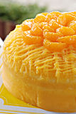 Orange Butter Cake Royalty Free Stock Photos