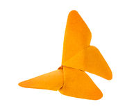 Orange butterfly of origami. Stock Photo