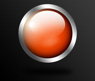 Orange button vector illustration