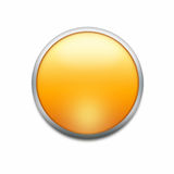 Orange button. With splotch  isolated on white Stock Photo