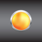 Orange button Royalty Free Stock Photography