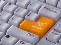 Orange button Buy now Royalty Free Stock Photography