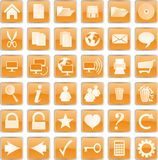 Orange buttons Royalty Free Stock Photo
