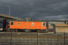 Orange Caboose Stock Photo