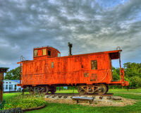 Orange Caboose Royalty Free Stock Photo