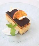 Orange cake. Photograph of orange cake on white background Royalty Free Stock Photo