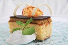 Orange cake. Photograph of orange cake on white background Stock Photography