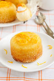 Orange cake. Served for Easter Royalty Free Stock Images