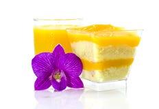 Orange cake Fotografering för Bildbyråer