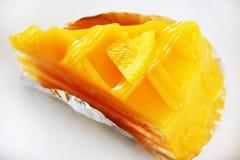Orange cake Arkivbild