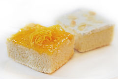 Orange cake Royaltyfri Foto