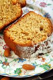 Orange cake with almonds. Royalty Free Stock Images
