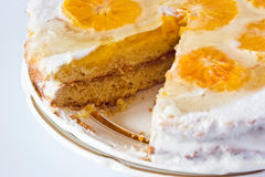 Orange cake background Stock Images