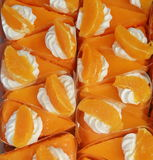 Orange cake background Stock Image
