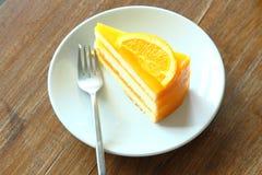 Orange cake Stock Photos