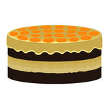 Orange cake Stock Photography