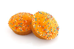 Orange cake cookies Stock Photo