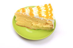 Orange cake cream Royalty Free Stock Photos