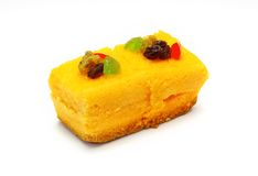 Orange cake with jelly and fruits Royalty Free Stock Photos