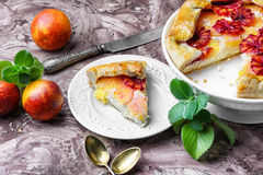 Orange cake with mint Royalty Free Stock Photos