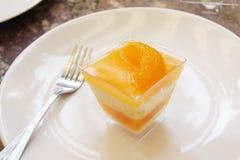 Orange Cake with orange topping Stock Photos