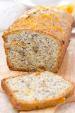 Orange cake with poppy seeds, dried apricots, walnuts and honey Royalty Free Stock Images